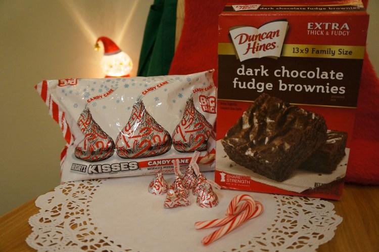 peppermint-Hershey-kisses-brownie