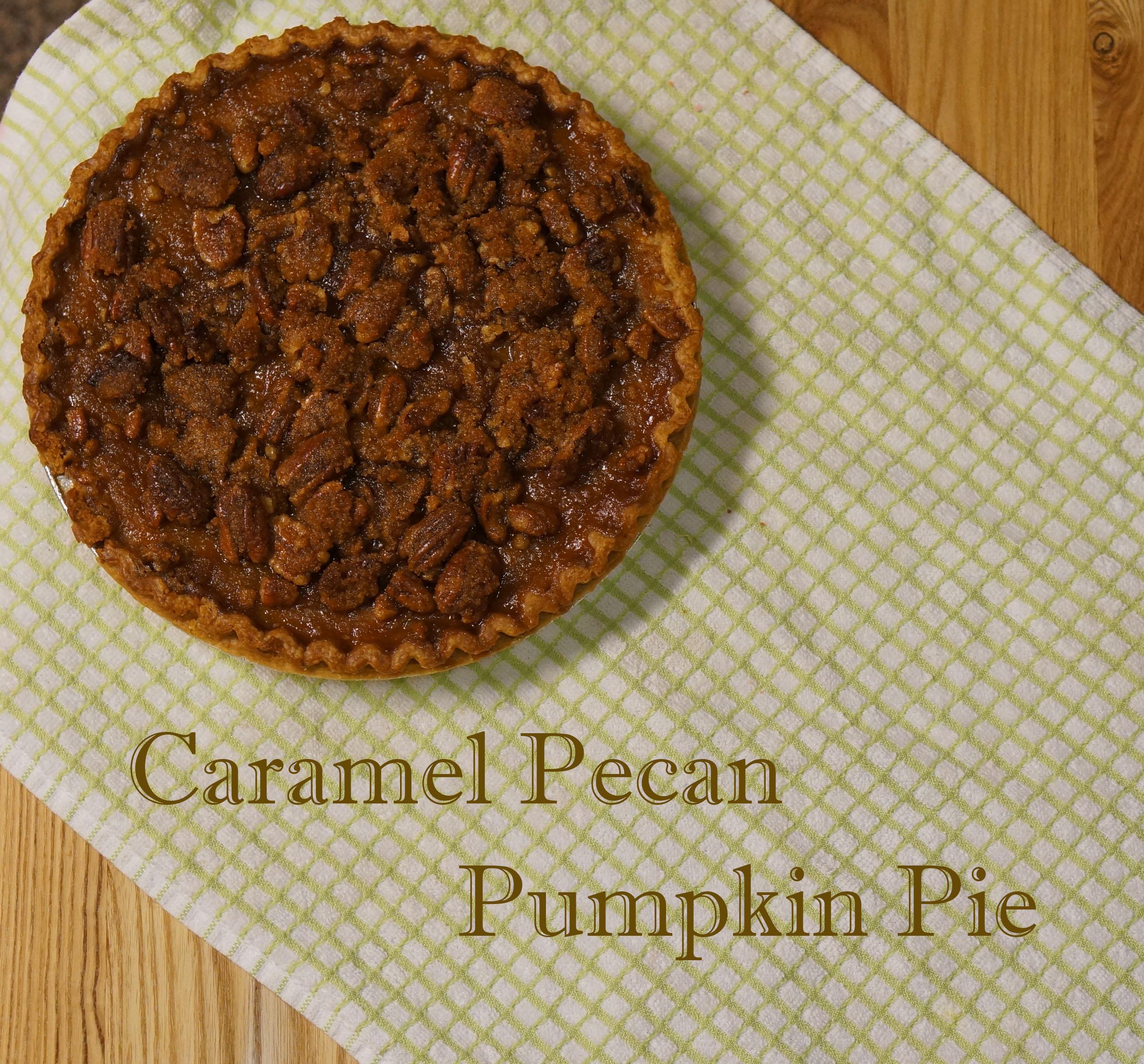 Caramel Pecan Pumpkin Pie - We're Calling Shenanigans