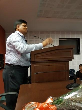 Dr. Jha, Principal of ARSD College