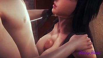 Final Fantasy VII 헨타이 3D - TIFA BOOBJOB 및 망할 - 일본 만화 애니메이션 게임 포르노 - 야딸두