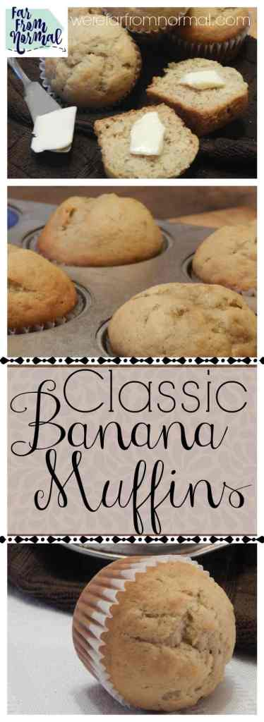Do you have over ripe bananas in your kitchen Whip up these delicious banana muffins! They are a simple recipe that eveyone will love!