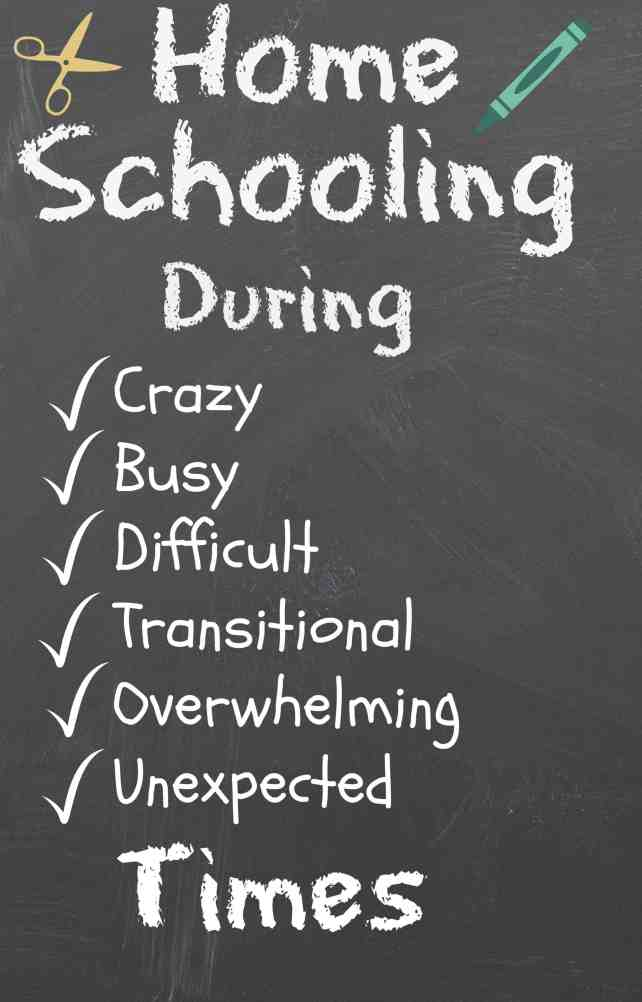 Homeschooling during difficult times