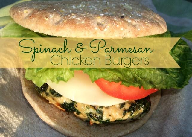 Spinach & Parmesan Chicken Burgers