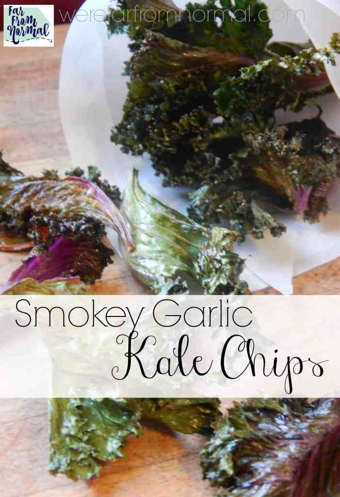 Ditch the potato chips for these healthier smokey garlic kale chips!! They are crunchy, salty and perfectly seasoned!