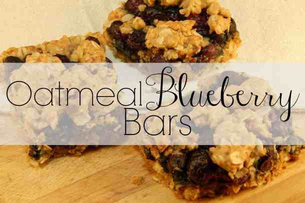 oatmeal blueberry bars