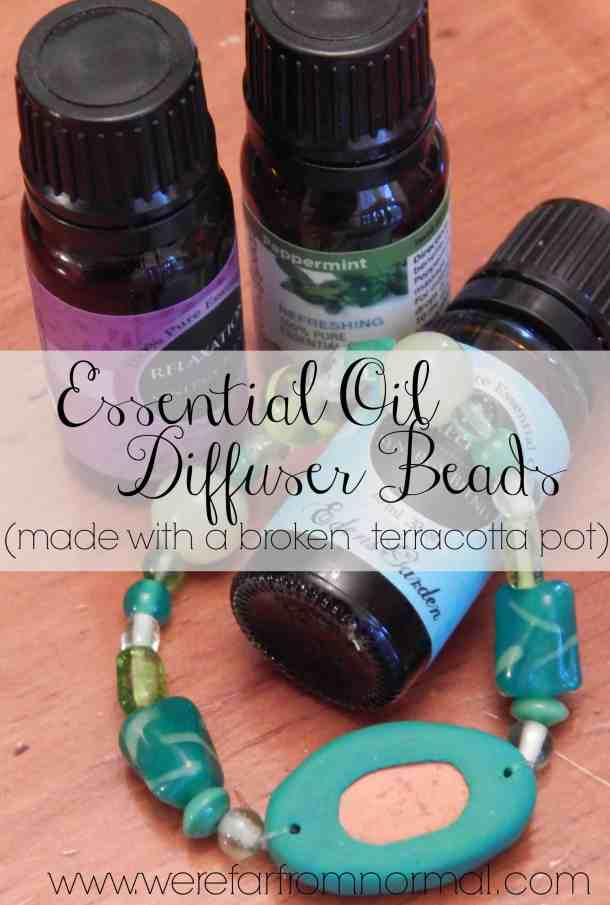 Essential Oil Diffuser beads make them yourself from a broken terracotta pot!