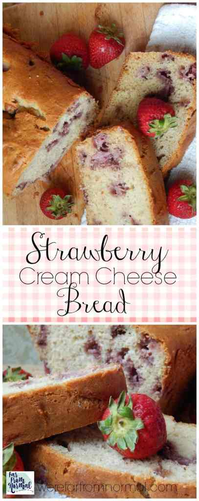 Capture the taste of summer with this delicious strawberry bread! Just sweet enough, moist, and bursting with strawberry flavor!