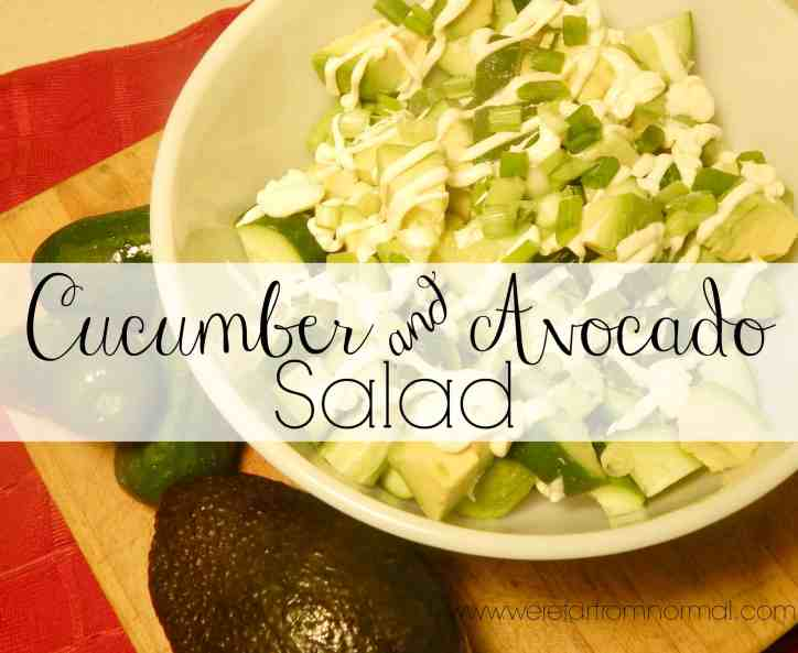Cucumber and Avocado salad- this is so simple and so amazingly delicious!