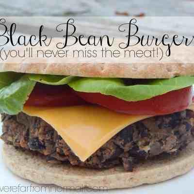 Black bean burgers meatless vegetarian