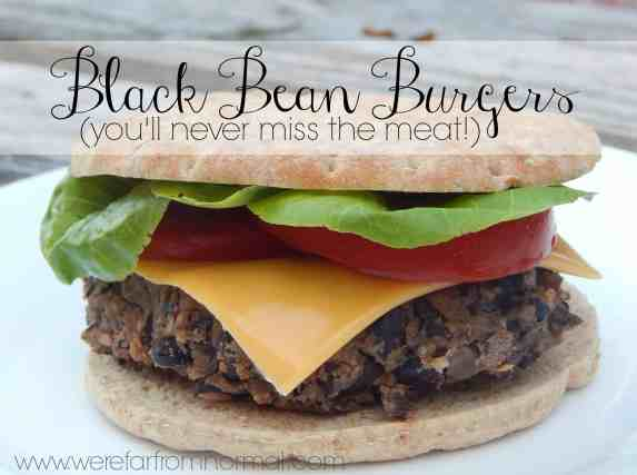 Black bean burgers meatless vegetarian