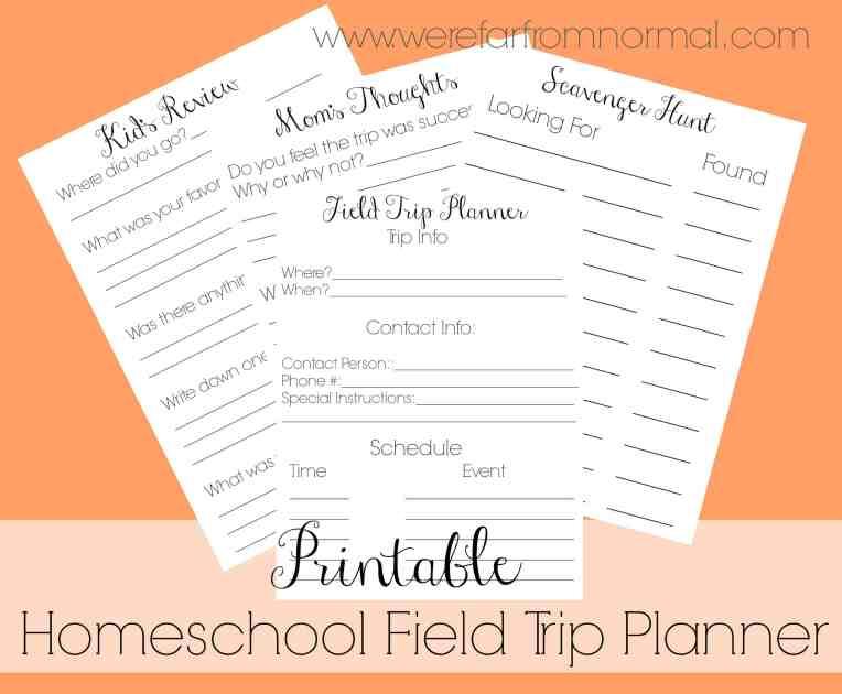 Homeschool Field Trip Planner