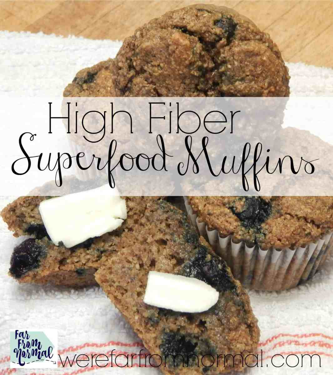 High Fiber Superfood Muffins