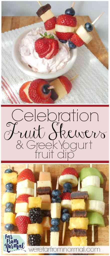 Are you having a graduation party of 4th of July celebration this summer These fruit skewers can be made in all kinds of color combinations for your party!!