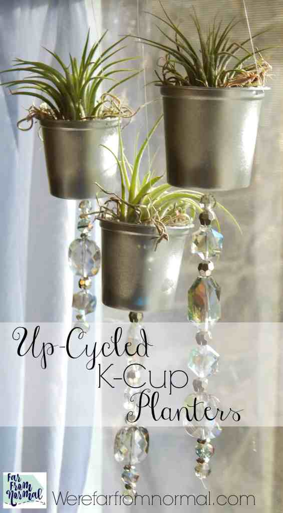 Don't throw those k-cups away! Up-cycle them in to these adorable little planters!