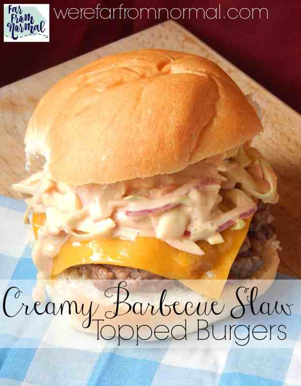 This slaw is perfect on top of a burger or by itself!
