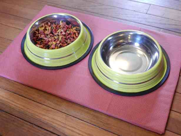 make a diy non-slip pet food mat