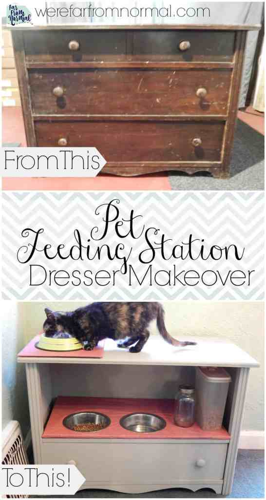 Check out this transformation!! Such a great way to make an old ugly dresser into something pretty & useful!