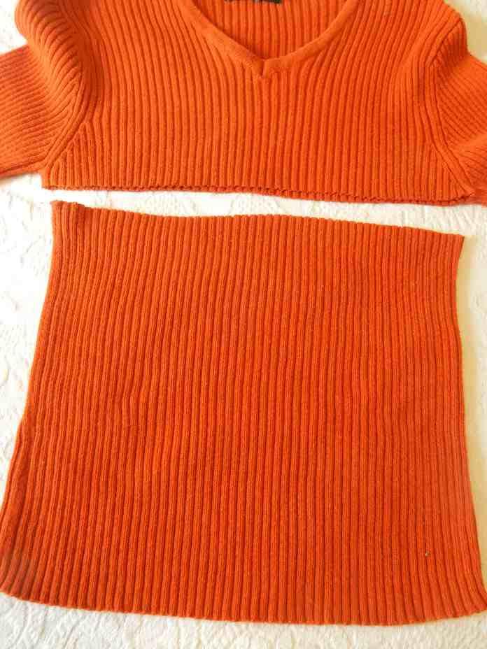 make a pumpkin from a sweater