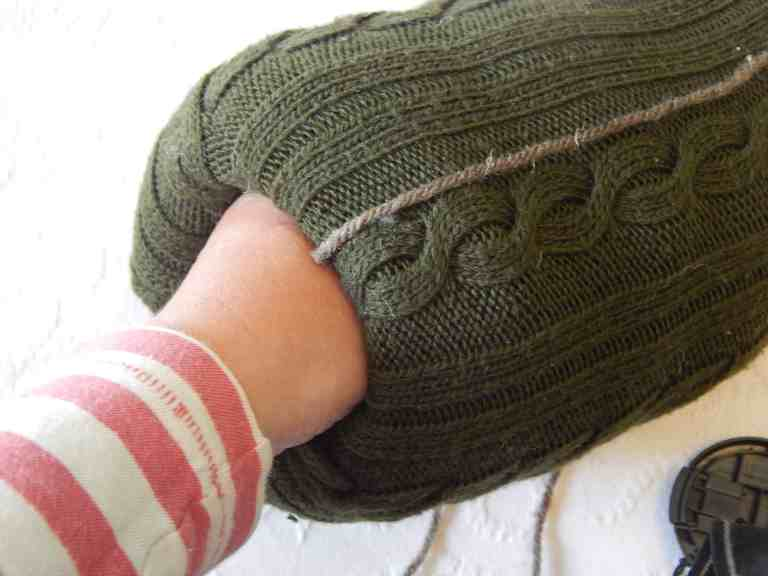 how to make a sweater pumpkin