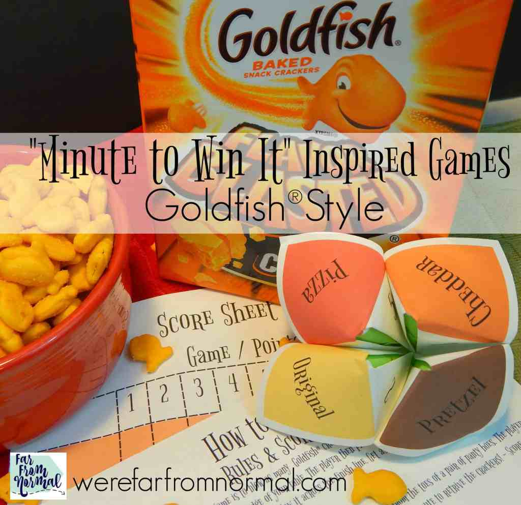 """Minute to Win It"" Inspired Games – Goldfish®Style"