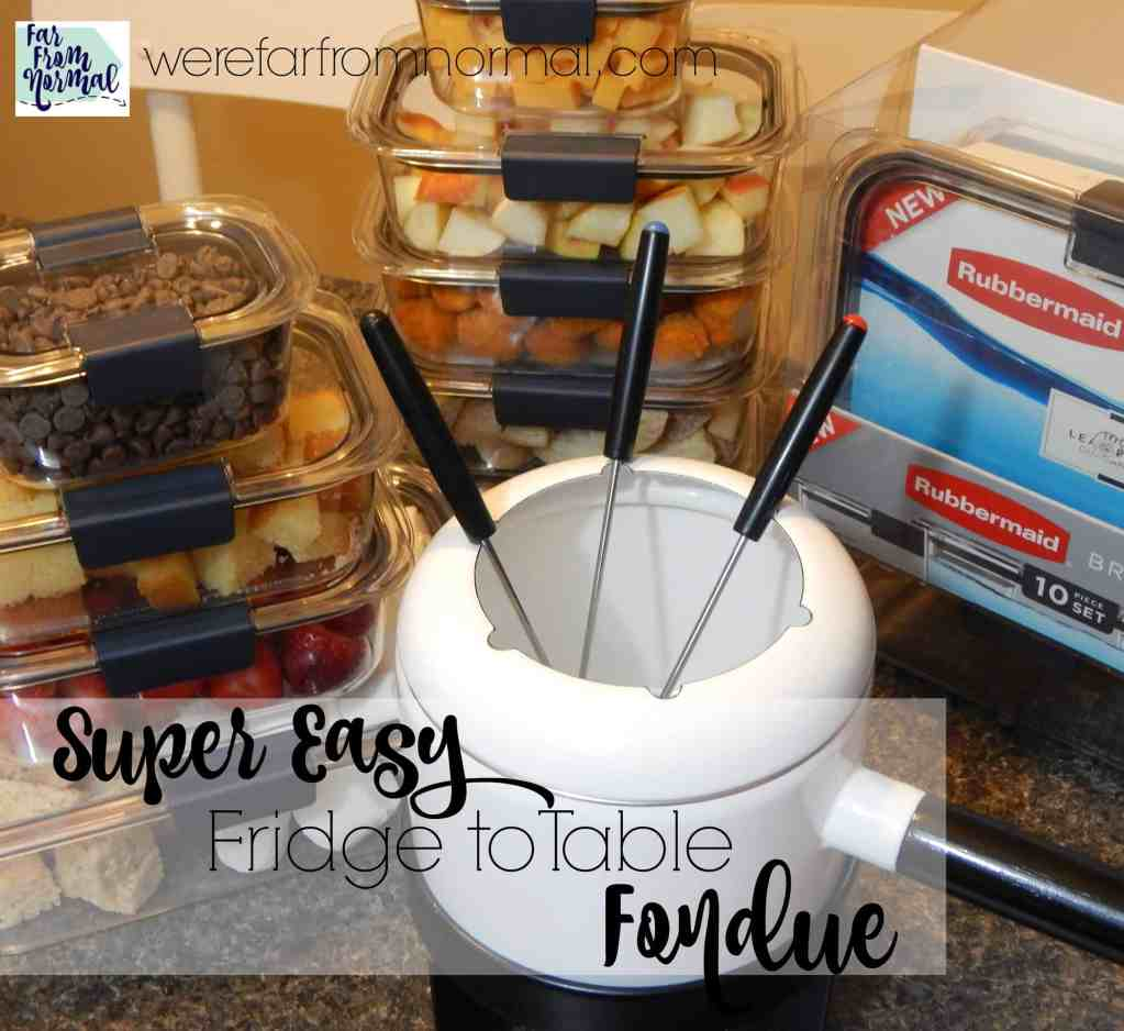 Super Easy Fridge to Table Fondue Night
