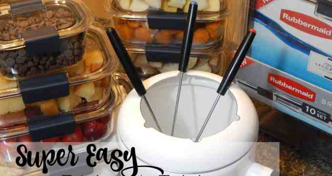 Super Easy Fridge to Table Fondue Night
