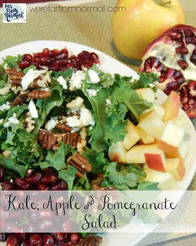 apple & pomegranate kale salad