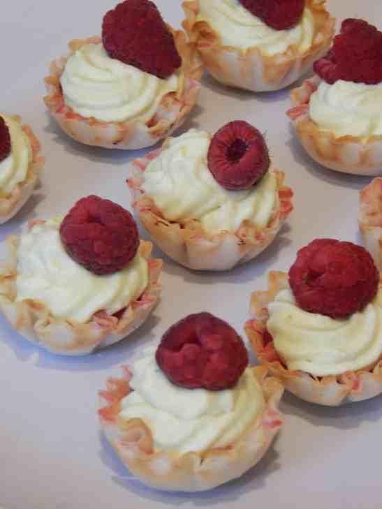 no bake raspberry limeade tarts