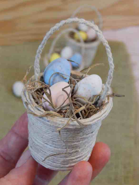 mini k-cup Easter baskets