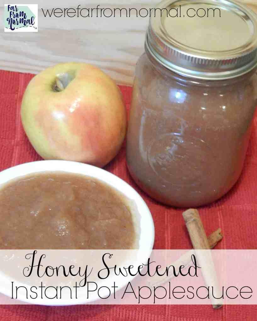 Instant Pot Honey Sweetened Applesauce
