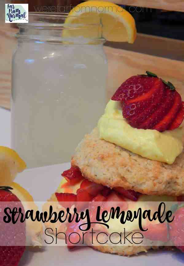 This Strawberry Lemonade Shortcake is amazing! Delicious homemade shortcakes, fresh strawberries, and an amazing lemonade mousse!