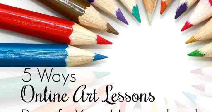 5 Ways Online Art Lessons Benefit Your Homeschool