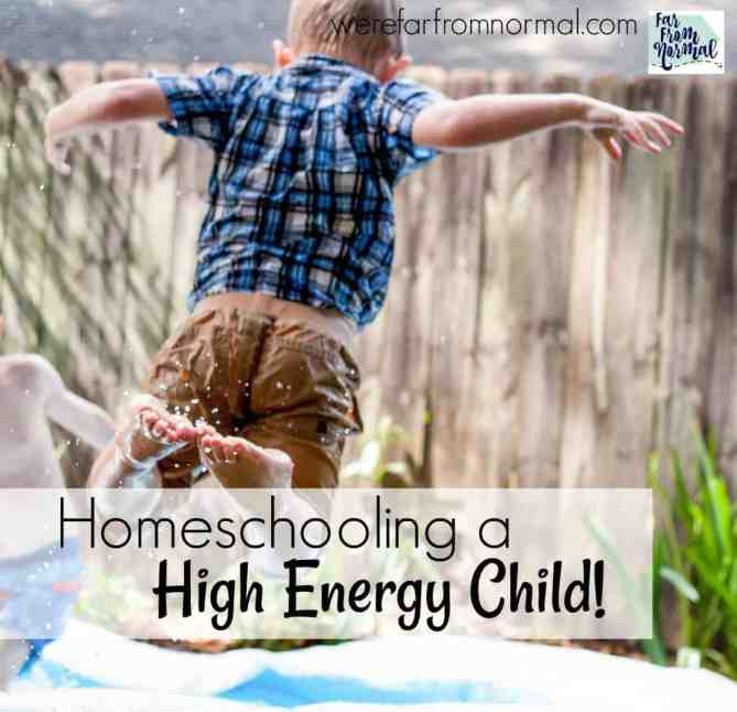 homeschooling a high energy child