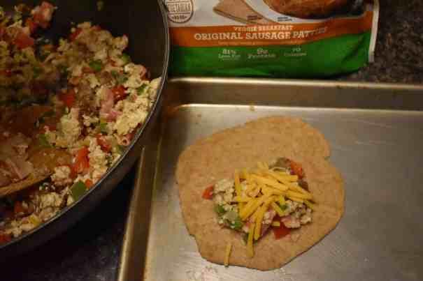 how to make vegetarian breakfast calzones
