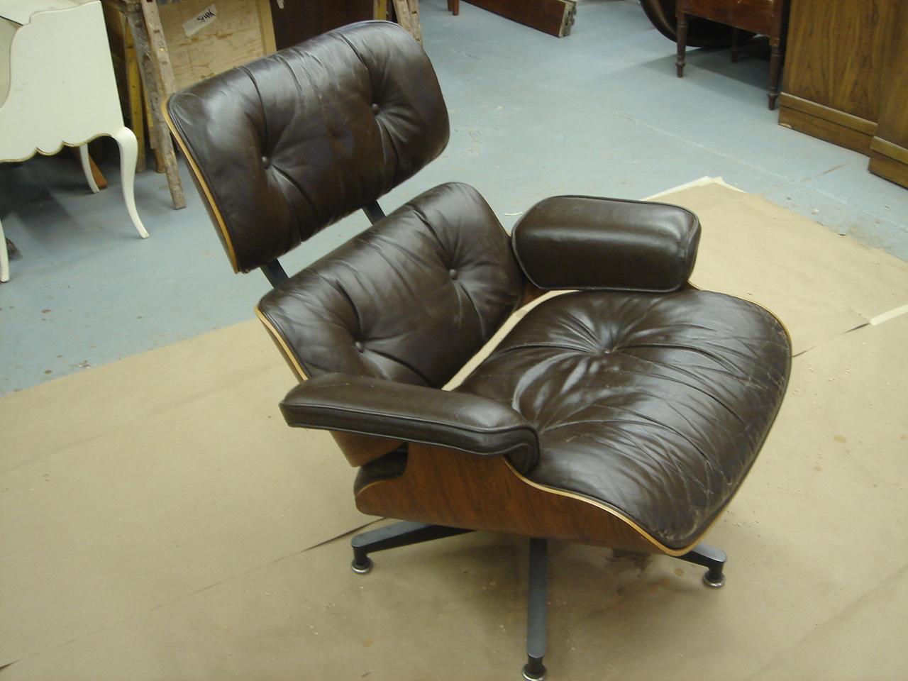 herman miller eames chair repair ritter dental parts lounge tutorial furniture refinishing