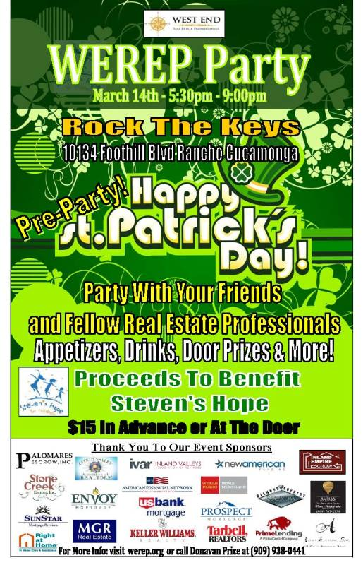 WEREP St Patricks Day Party 2013