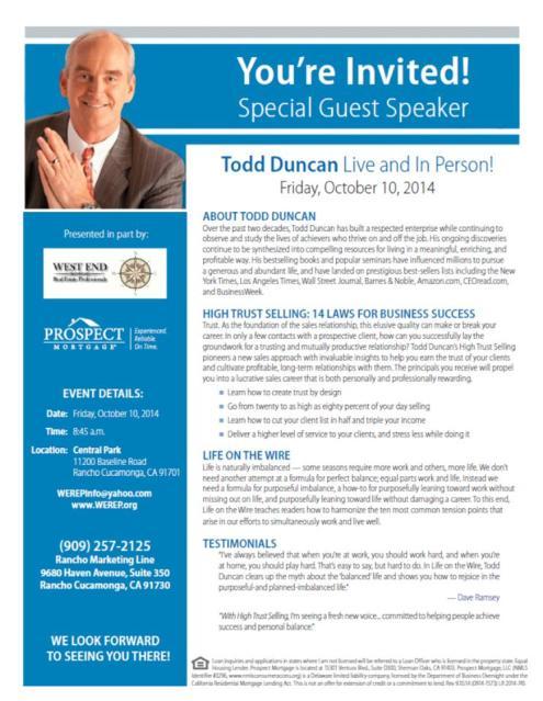 Todd Duncan | October 10, 2014