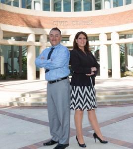 City of Rancho Cucamonga Economic Development Management Analyst, Flavio Nunez and Communications Manager Francie Palmer