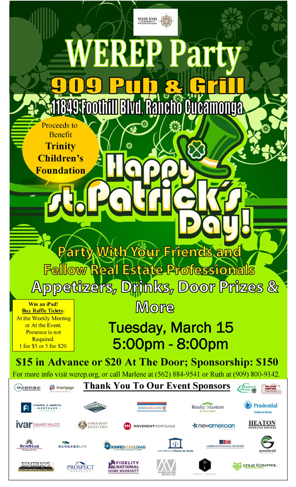 Join WEREP in Celebrating St. Patrick's Day | March 15, 2016
