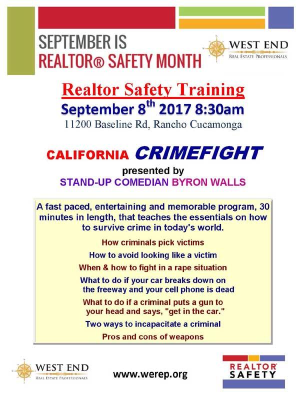 September is REALTOR Safety Month | September 8, 2017