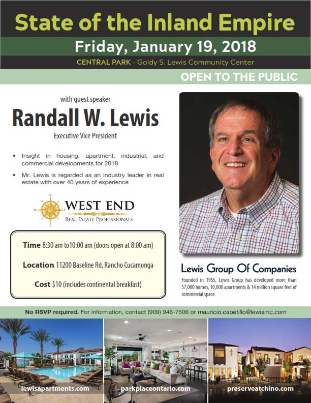 State of the Inland Empire with Randall W. Lewis – 1/19/18