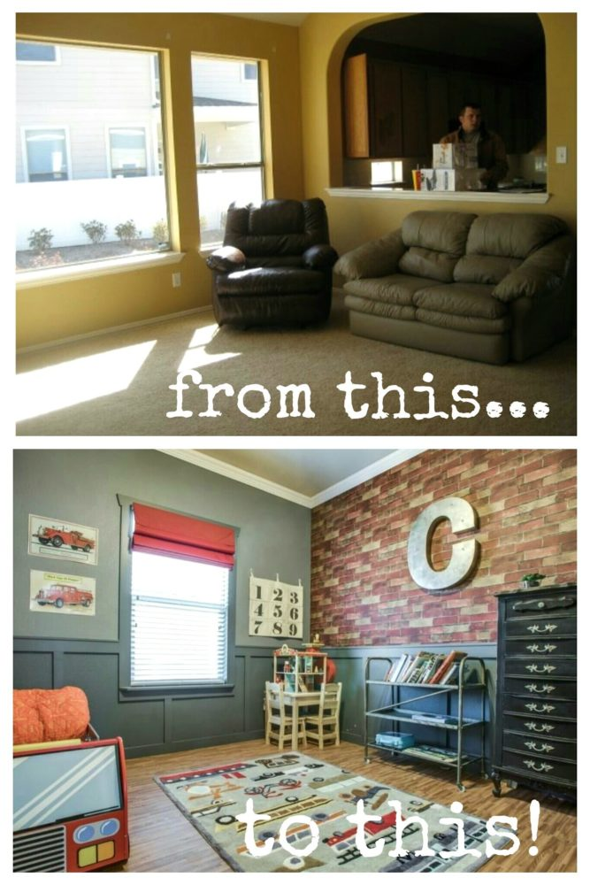 Our decorating styles then to now!