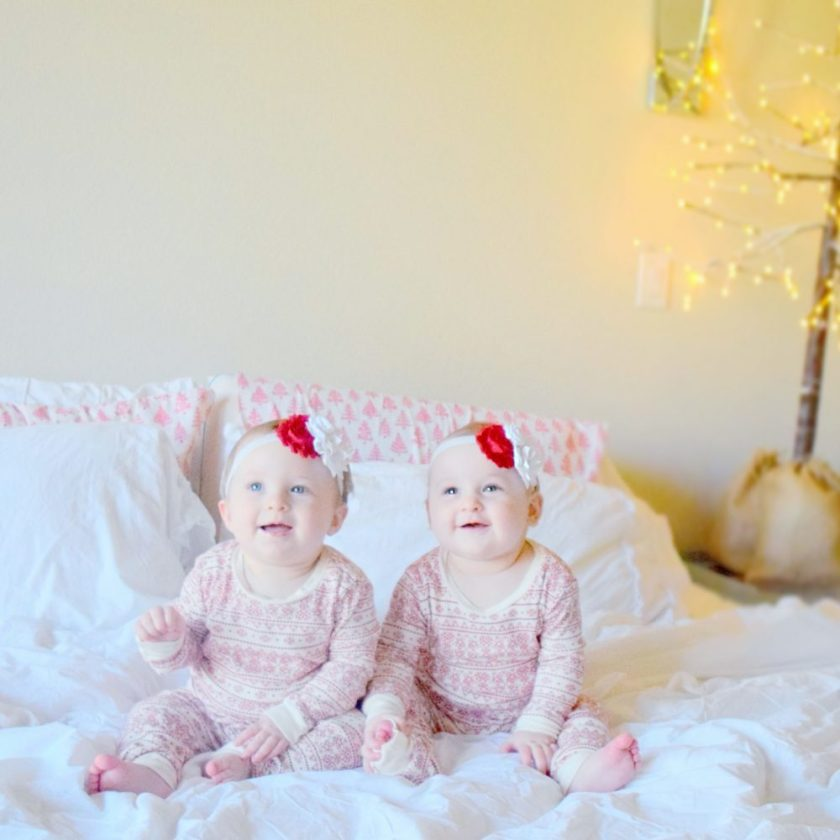 georgia-and-geneveive-matching-christmas-pajamas-family-christmas-pictures