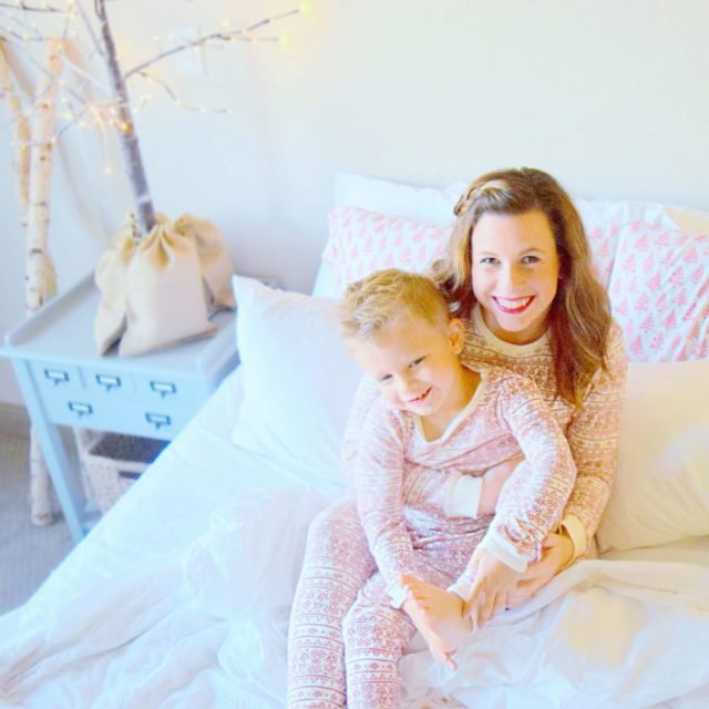 merichelle-and-cade-matching-christmas-pajamas-family-christmas-pictures