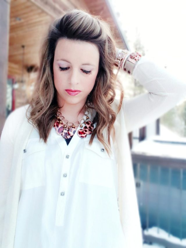 Leopard Necklace Basic White Blouse Closet Basics