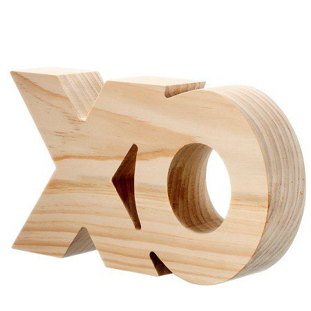 Hand Made Modern – Wood XO Sign – Pine