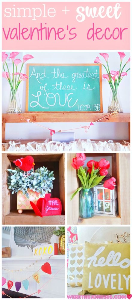 Sweet and Simple Valentine's Day Decor