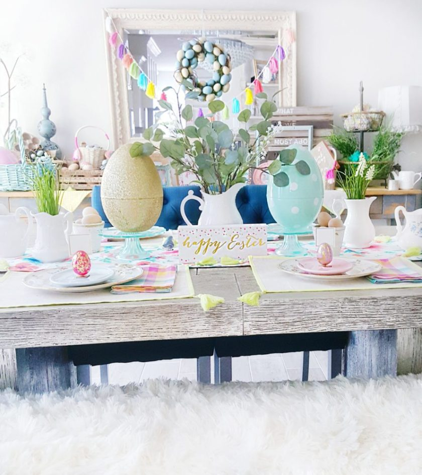 Easter Tablescape Easter Table Decor