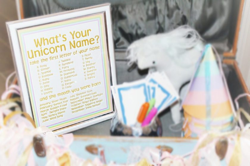 Twin Girls Unicorn Party First Birthday Party Unicorn Birthday Party Ideas Unicorn Photo Booth Props