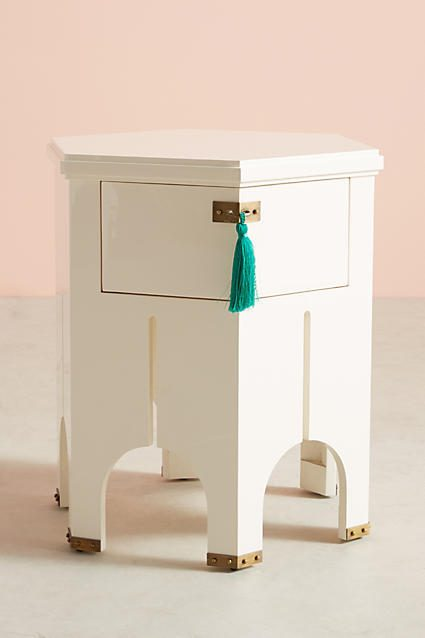 ANTHROPOLOGIE TASSELED ARCHWAY SIDE TABLE